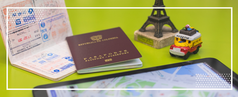 Imagen para la sección movilidad del micrositio internacionalización Unibagué, pasaporte